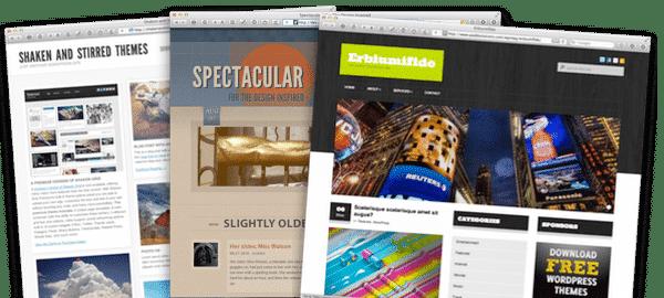 Über 100 vorinstallierte WordPress Themes im Elbnetz