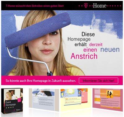 Werbung für Ihren Webspace-Anbieter