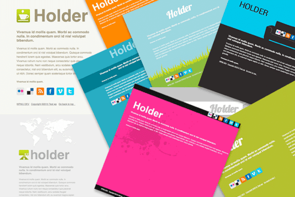 Wordpress Platzhalter Theme Holder