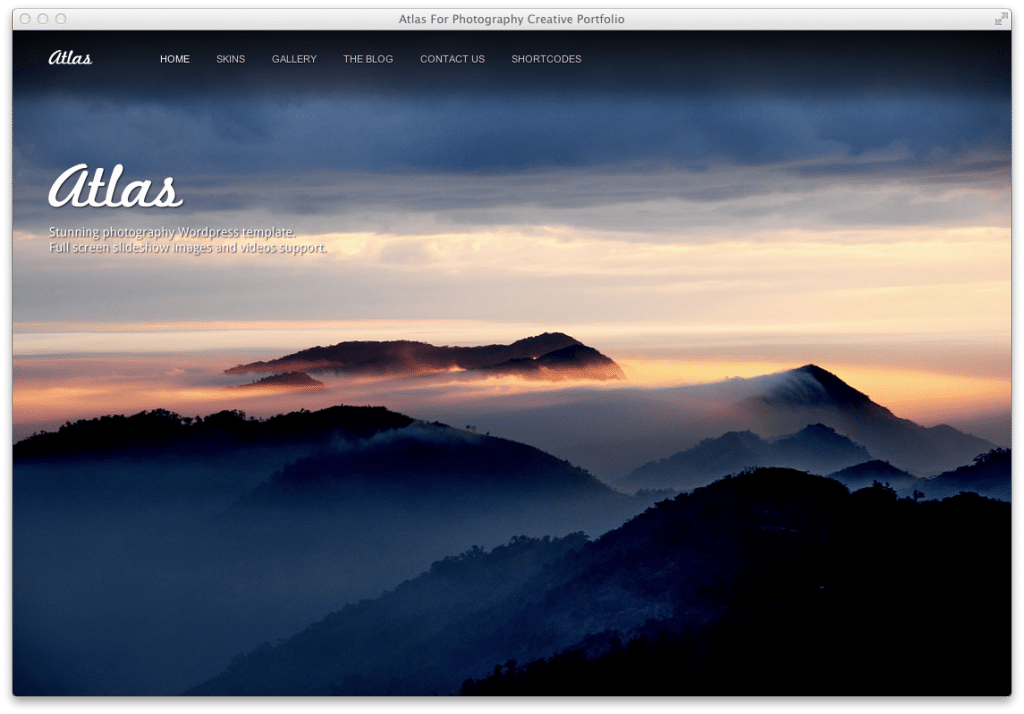 Wordpress Theme Atlas