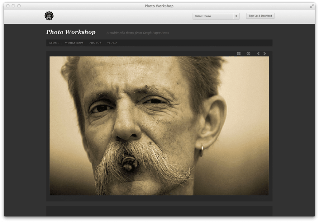 Wordpress Theme Photo Workshop