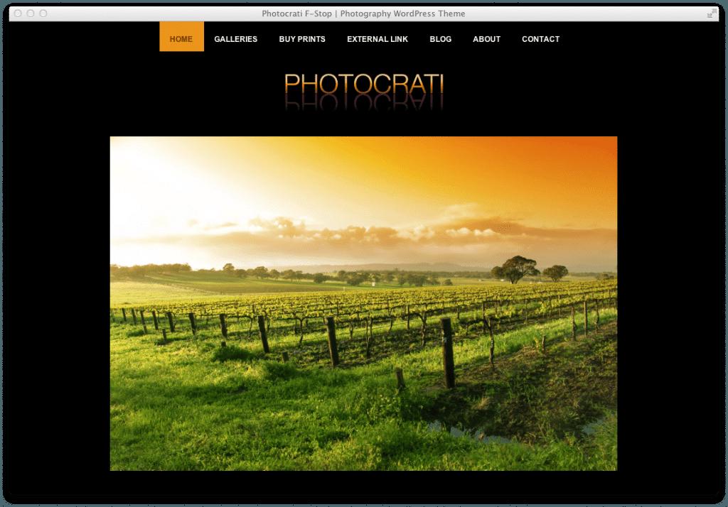 Wordpress Theme Photocrati