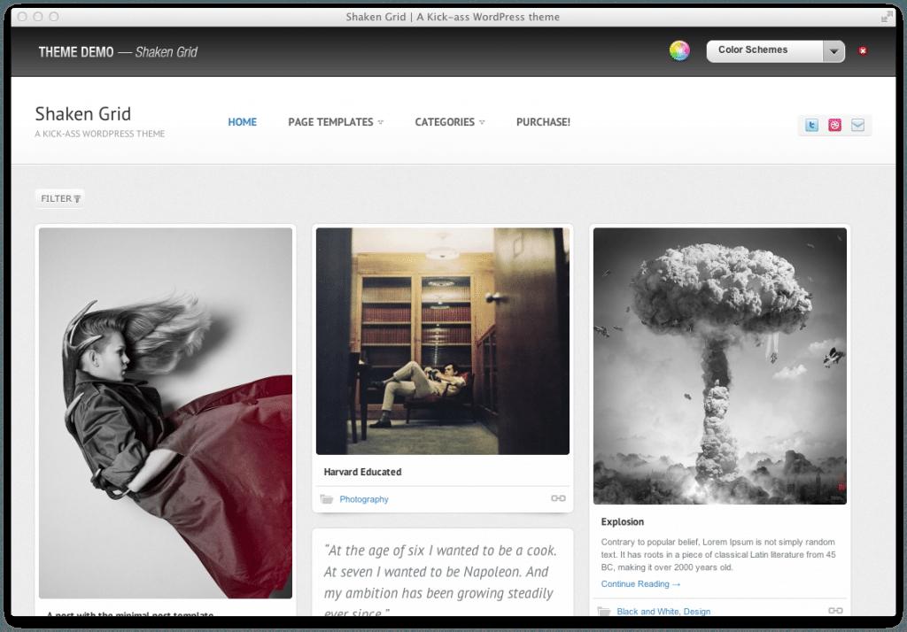 Wordpress Theme Shaken Grid