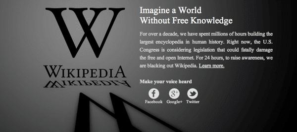 wikipedia protestiert gegen gesetzesinitiativen unterhaltungsindustrie