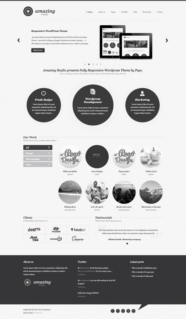 Amazing Studio Responsive WordPress Theme