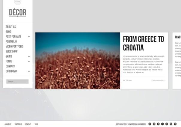 Decor - fullscreen creative wordpress theme