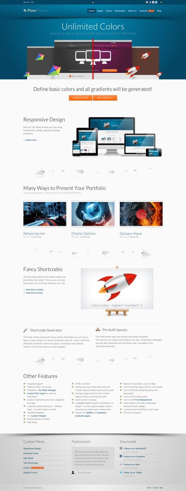 Flare - Responsive Business Portfolio WP Theme