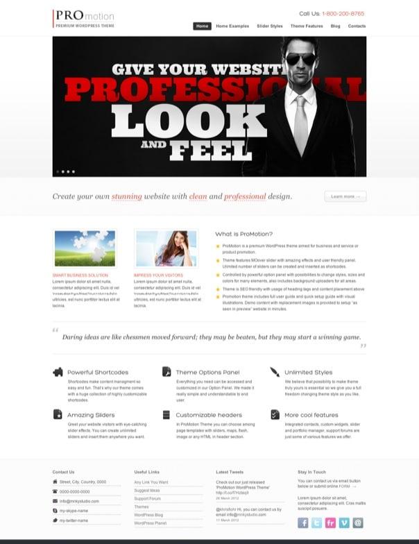 ProMotion WordPress Theme