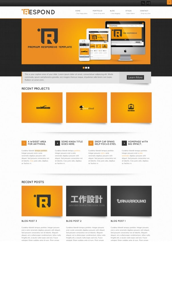 Respond Premium WordPress Theme