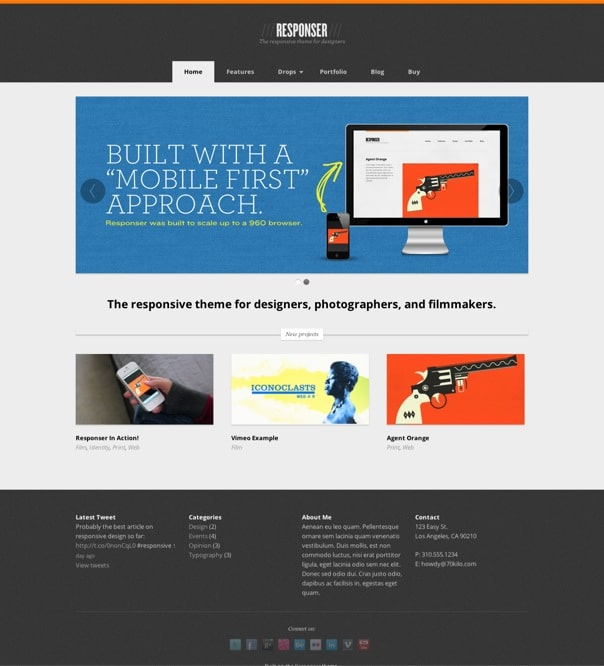 Responser - The responsive portfolio WP theme