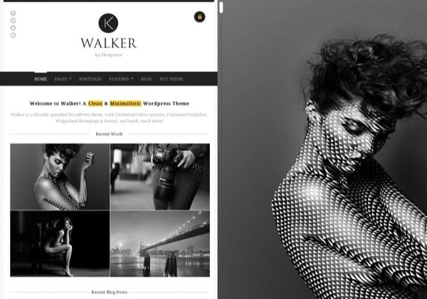 Walker - AJAX Photography Portfolio WP Theme