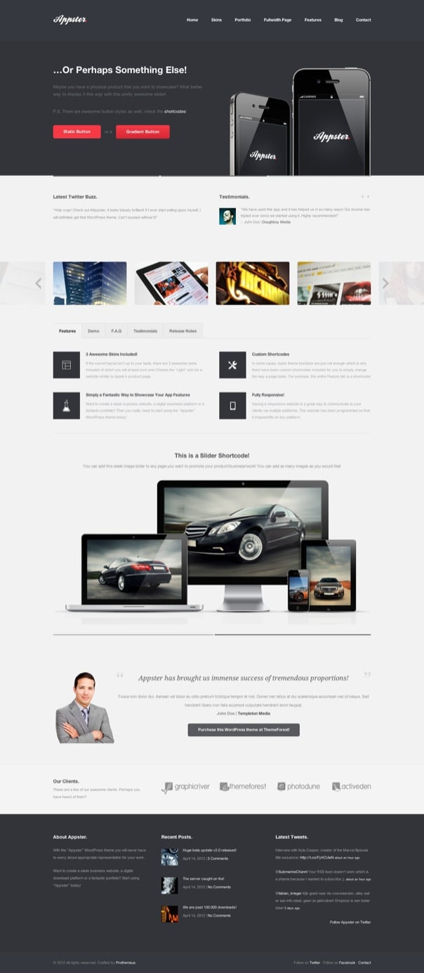 Appster Responsive Business & Portfolio WP Theme