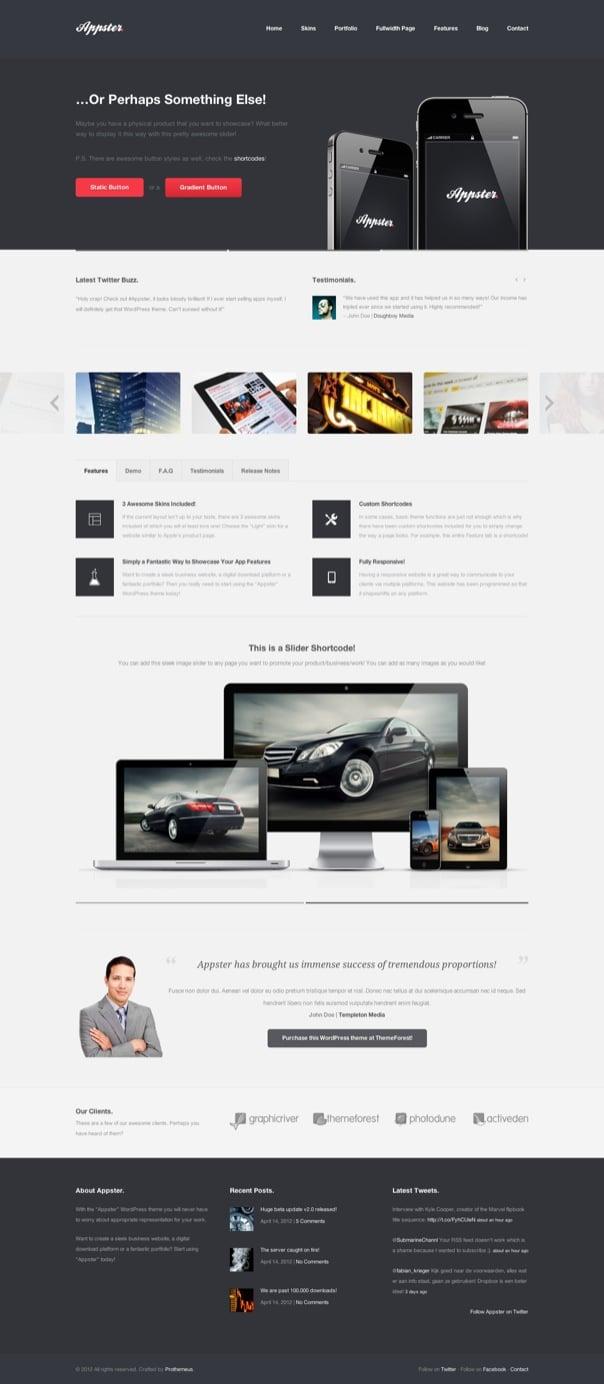 Appster Responsive Business & Portfolio WP Theme