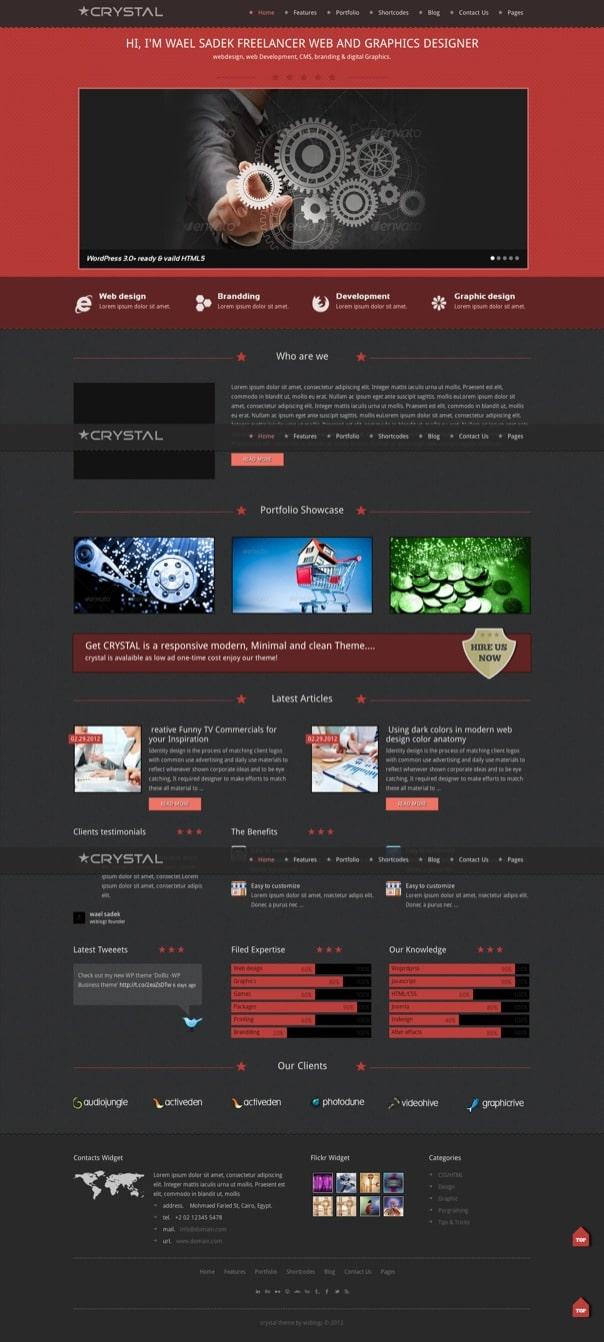 Crystal theme by wsblogz.com