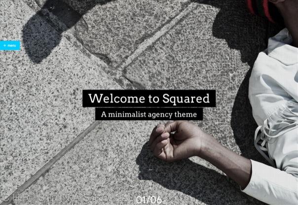 Squared Minimalist Creative WordPress Theme