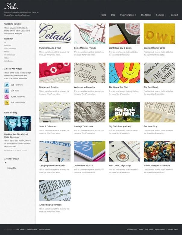 Stilo Responsive Portfolio WordPress Theme