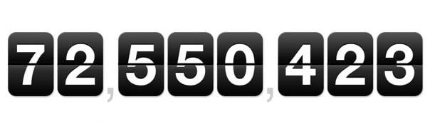 Über 72 Millionen WordPress Websites