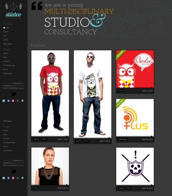 stüdeo - Ajax-driven creative portfolio