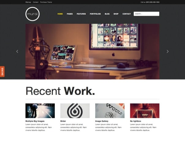Mural Business & Portfolio WordPress Theme