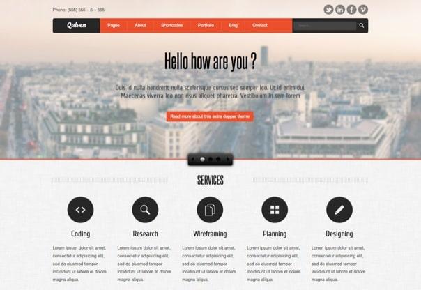 Quiven Portfolio WordPress Theme
