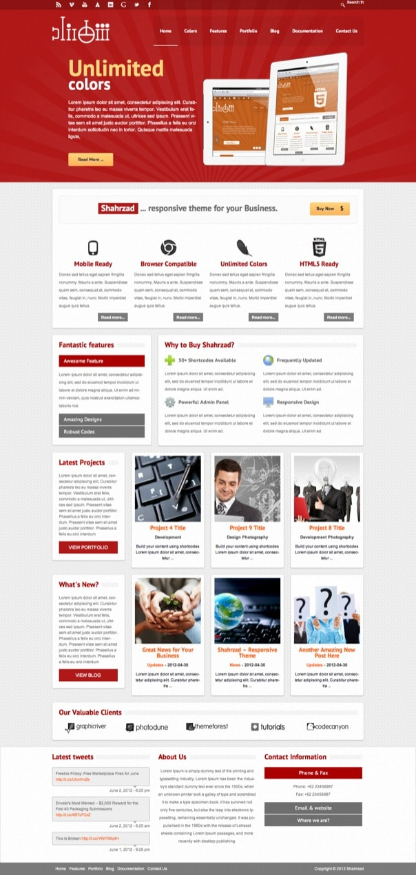 Shahrzad Responsive Corporate WordPress Theme