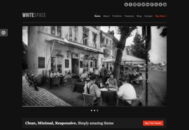 WhiteSpace Responsive & Minimal WordPress Theme