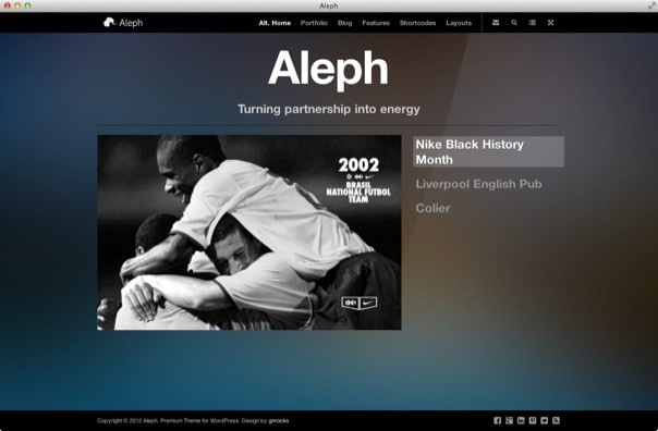 Aleph - Portfolio for Agencies and Freelancers