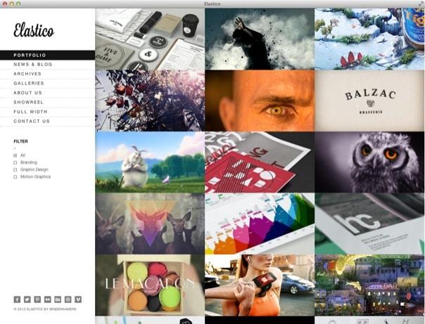 Elastico Responsive Fullscreen Portfolio WP Theme