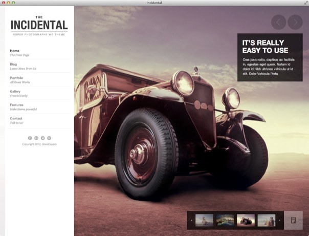 Incidental - High Class Photography WP Theme