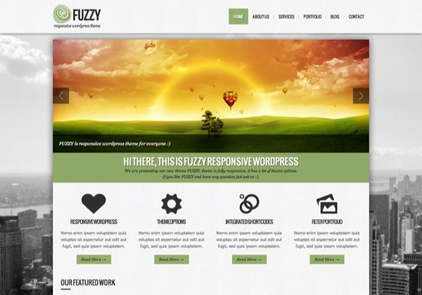 FUZZY - jQuery responsive wordpress theme