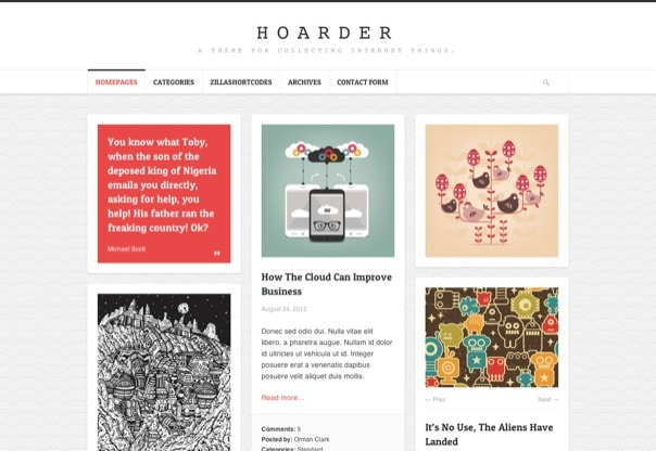 Hoarder Responsive WordPress Blog Theme