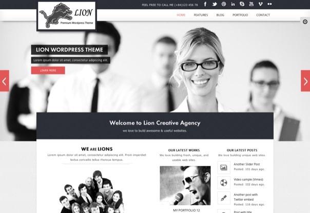 Lion - Clean & Modern WordPress Theme
