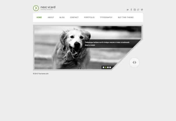 Next vCard - Responsive WordPress Theme