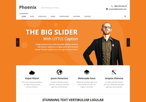 Phoenix - Clean Responsive WordPress Theme