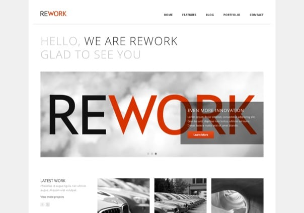 REWORK Responsive Modern WordPress Theme