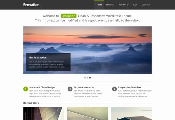 Sensation - Responsive WordPress Theme