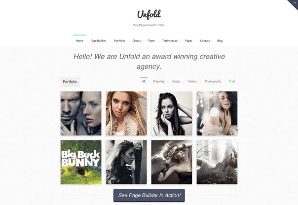 Unfold - Responsive WordPress Portfolio Theme