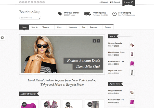 Boutique Shop - WordPress Theme