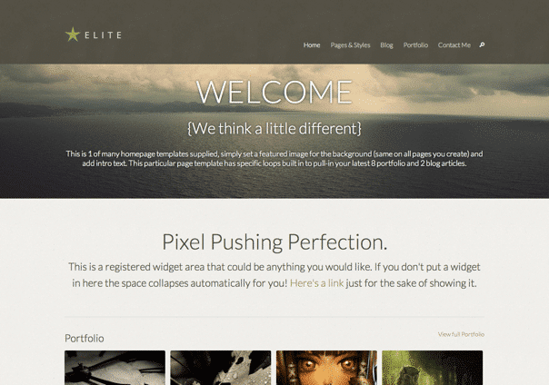 Elite - WordPress Theme