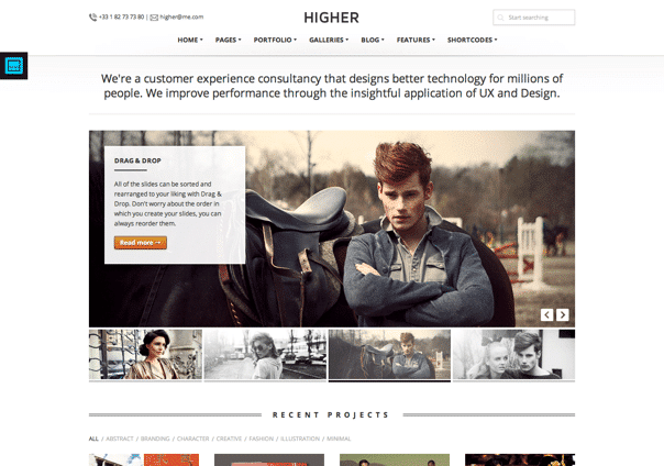 Higher - WordPress Theme