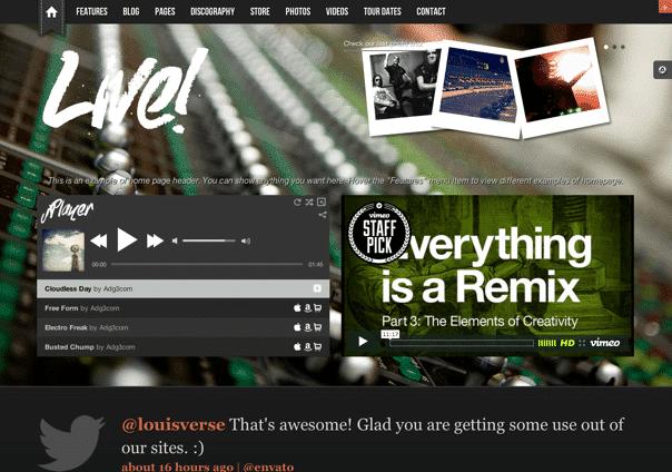 Live - WordPress Theme
