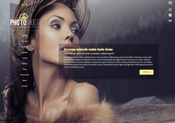 Photoshoot - WordPress Theme