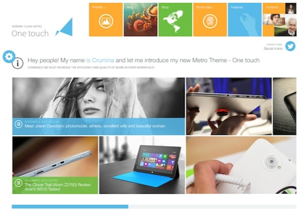 chamfer - WordPress Theme