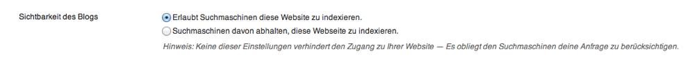 Privatsphäreeinstellungen WordPress