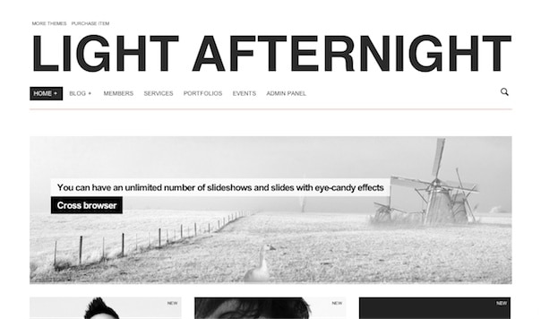 Afternight WordPress Theme