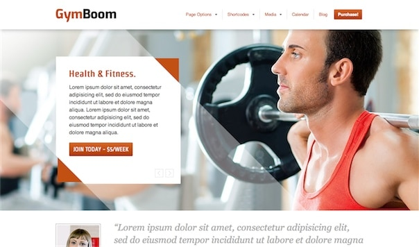 Gymboom WordPress Theme