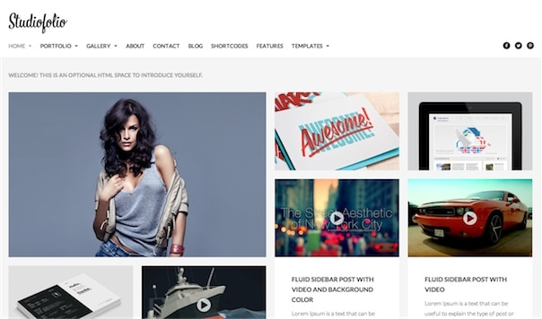 Studiofolio WordPress Theme