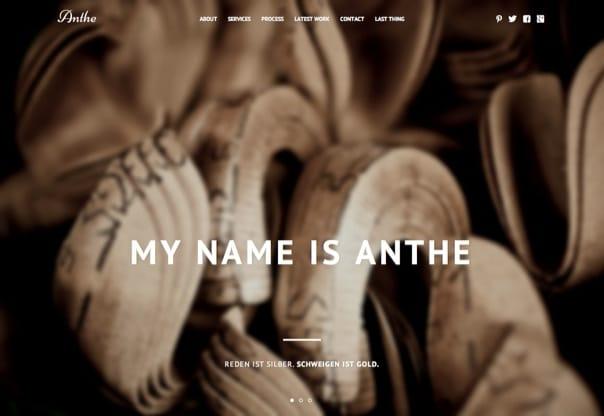 Anthe WordPress für Fotografen