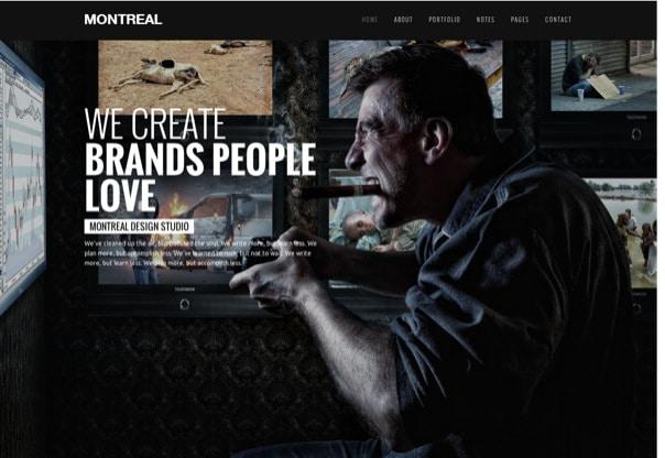 Montreal Interactive Creative WordPress Theme