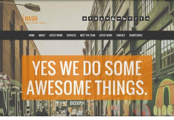 NASH - Responsive HTML5 One Page WordPress Theme